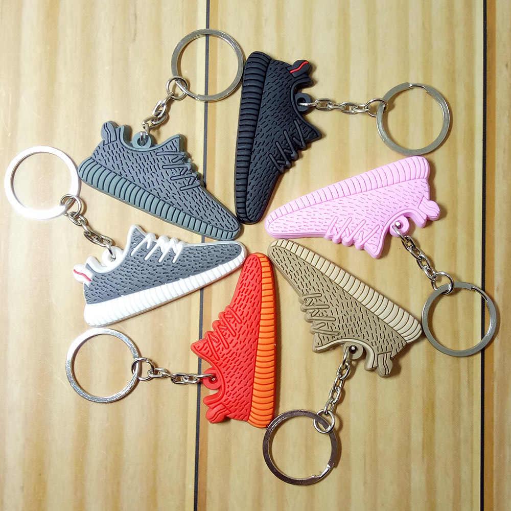 Mini Silikon 350 çanta anahtarlığı Charm Kadın Erkek Çocuklar Anahtarlık Hediyeler Sneaker Anahtarlık Jordan Ayakkabı Anahtarlık