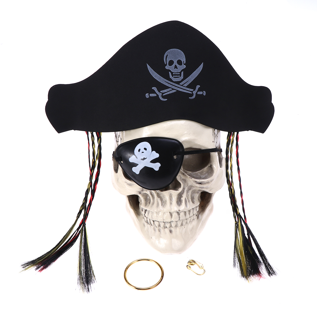 21Pcs//set Mexican Mask Photo Props Skull Head Happy Halloween Party DecoratioD/_X
