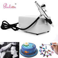 White Airbrush Compressor Kit 0.4mm Aerograph Cosmetics Airbrush For Nails Art, Face Make up,Cake Coloring,Tattoo Hobby Art