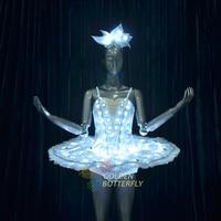 LED Clothing LED ballet skirt luminous clothes glowing garment