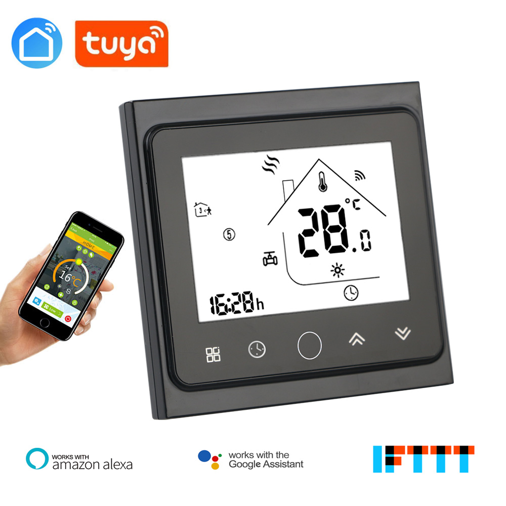 Tuya Remote Control Water Heat Works Amazon Alexa Echo Google Home Multifunction Voice Interaction Touch Screen Room Thermostat