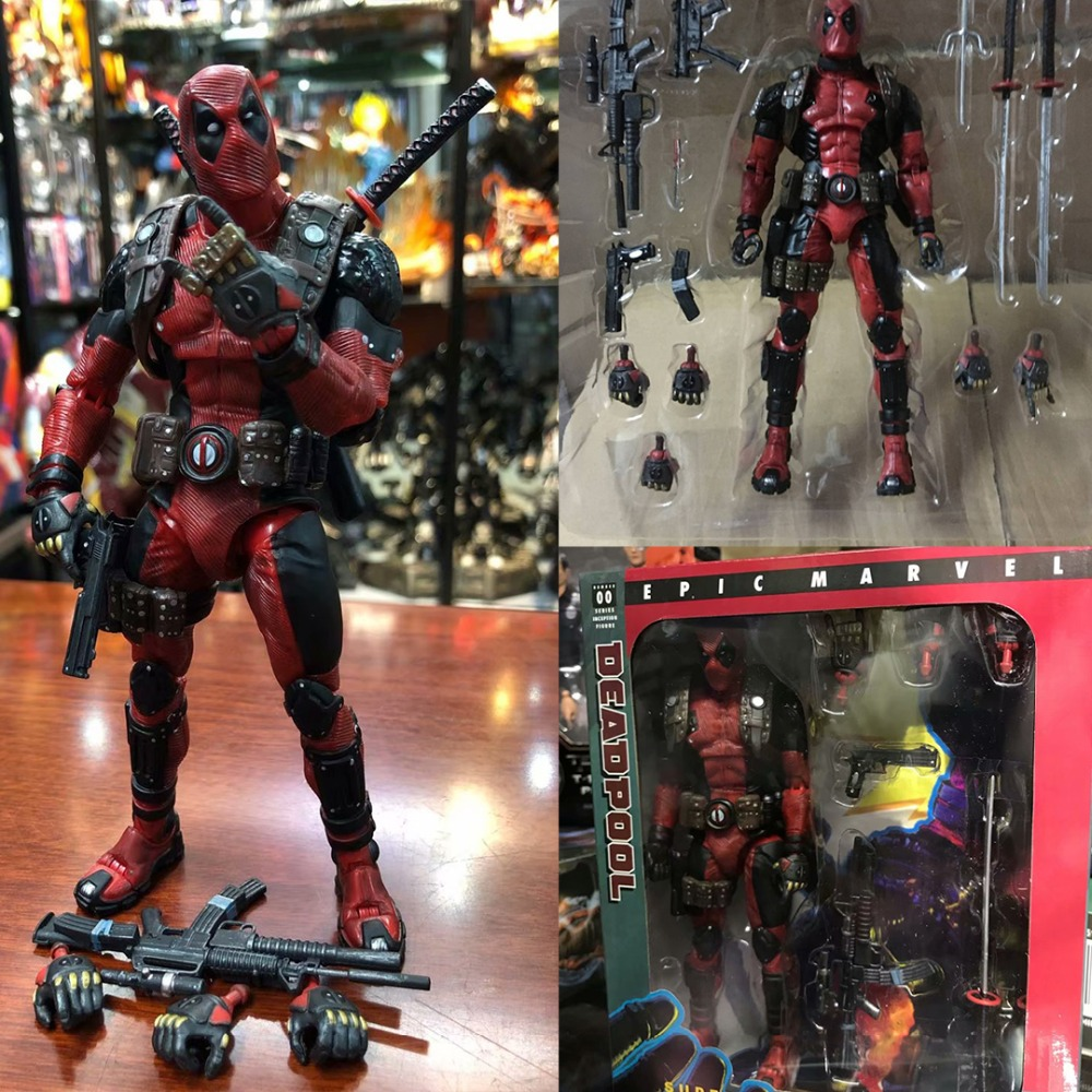 EPIC Marvel Deadpool Super Poseable Ultimate Action Figure Collectible Model Toy