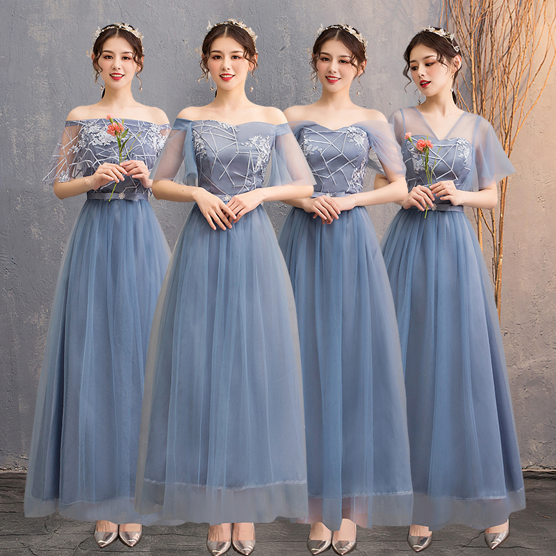 Elegant Dress Women For Guest Wedding Party Junior Long Bridesmaid Floor-Length A-Line Long Simple Dress Vestidos Mujer Sexy