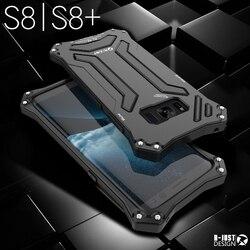 Heavy Duty Protector pancerna obudowa do Samsung Galaxy S8 S8 + Plus sztywne etui etui metalowe + silikonowe wytrzymałe hybrydowe klasy wojskowej w Dopasowane obudowy od Telefony komórkowe i telekomunikacja na