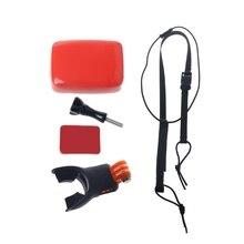 Surf shoot surf manequim mordida boca grill montagem para gopro hero 5 4 3 2 sjcam kit suporte de transporte da gota