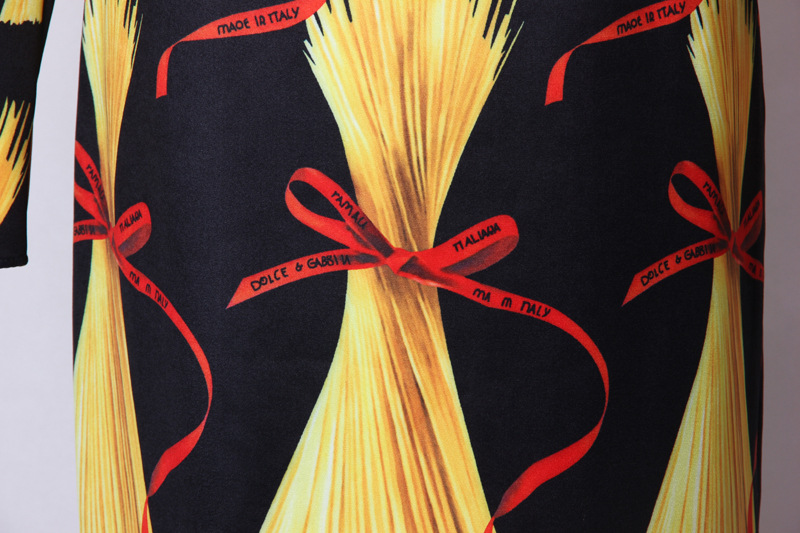 Mifairy Milan piste col rond manches longues moulante femmes robe italie Noodies imprimer marque même Style robes de grande taille Vestidos - 6