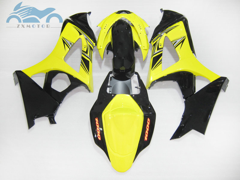 Motorcycle Fairing <font><b>kits</b></font> for <font><b>Suzuki</b></font> GSXR 1000 <font><b>GSXR1000</b></font> 2007 2008 K7 <font><b>K8</b></font> ABS plastic street fairings <font><b>kit</b></font> 07 08 yellow black GS26 image