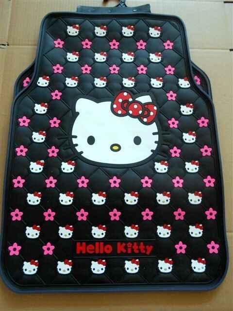 Marca de moda bonito dos desenhos animados Olá kitty látex tapetes do carro universal apto para todos os carros modelo