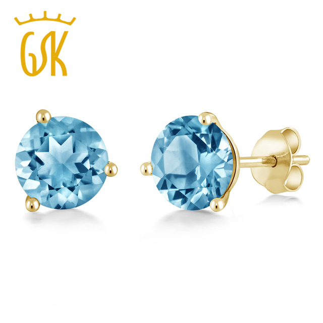 square carat topaz earring women stud cushion engagement natural cut item blue earrings light ainuoshi