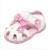2016 verão nova moda bebê lindo piscando luz pele sandálias princesa flor arco meninas shoes rosa branco round-toe fivela