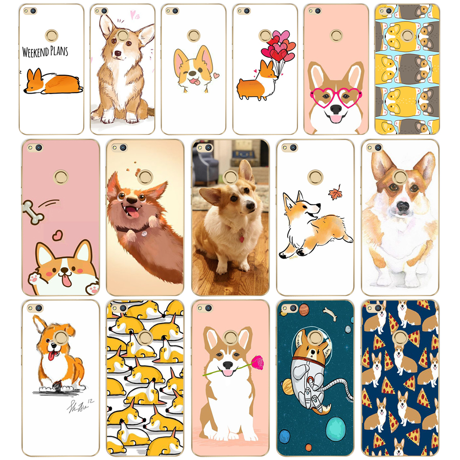 289df Super Cute Puppy Corgi Hard Transparent Cover Case For Huawei P8 P20 Honor 9 Lite Mate 10 Pro Y6 Y5 2017 Be Novel In Design