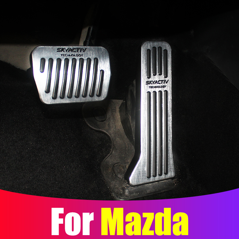 Car Accelerator Brake Clutch Pedal Footrest Pedal Plate Cover For <font><b>Mazda</b></font> 3 6 <font><b>CX</b></font>-5 CX5 <font><b>CX</b></font>-3 <font><b>2017</b></font> 2018 <font><b>2019</b></font> <font><b>CX</b></font>-7 <font><b>CX</b></font>-<font><b>9</b></font> Axela ATENZA image