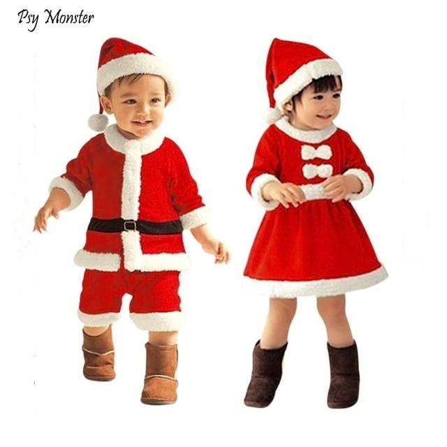 c1000d09a5ec6 Children's Christmas Costumes Baby Boys Girls Dress Up Santa Claus Clothes  Sets Christmas Costumes