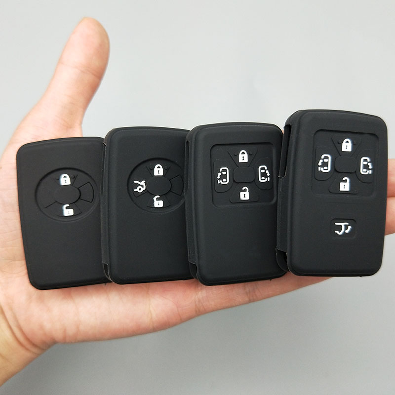 2/3 /4/5 Button Car Key Protect Shell For Toyota Camry Avalon Corolla Yaris  Tarago Mark X RAV4 Voxy Estima Silicone Cover Case