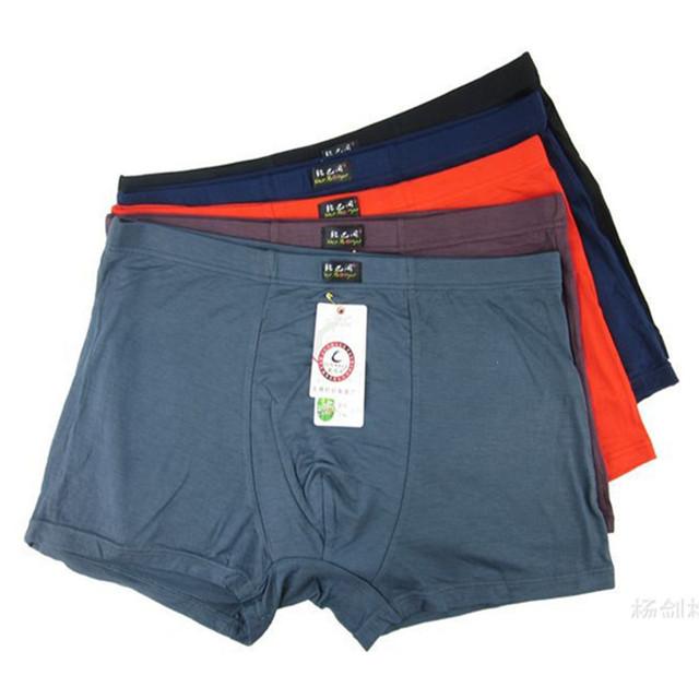 5 pçs/lote mais 5XL6XL diário de cuecas Boxers homens de fibra de bambu respirável confortável Pantis grande tamanho grande metros