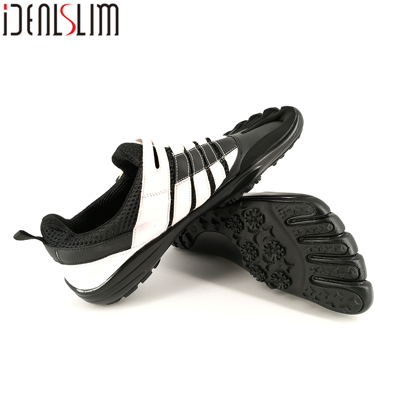 IDEALSLIM Five Finger Shoes Men Walking Shoes Genuine Leather Fivefinger Shoes Men Five-finger Shoes