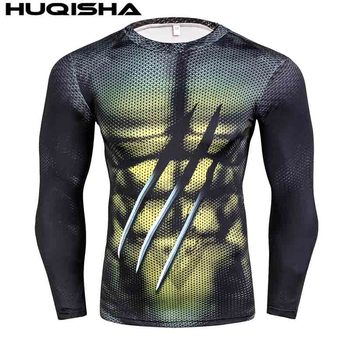 Mens MMA Fitness Rashguard T Shirts Fashion 3D Teen Wolf Long Sleeve Palace Compression Shirt Man Bodybuilding Clothing 5