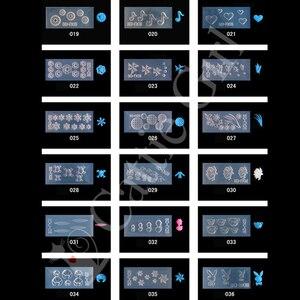 Image 4 - 134 muster 3D Acryl Form für Nagel Kunst Dekorationen Silikon Formen Nail art Vorlagen Muster Form Nägel Kunst Salon DIY design