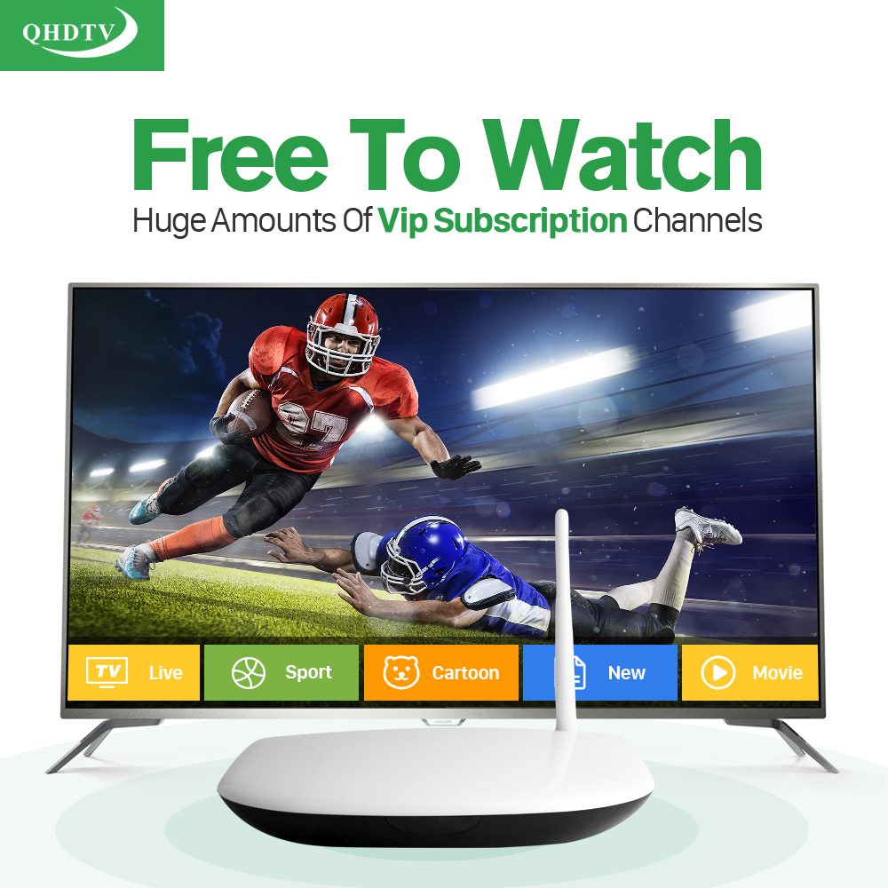 HD IPTV Smart tv box android Media Player with Arabic 1300+ iptv Channels account Subscription 1 year Europe Italian French STB gotit cs918 android 4 4 tv box with 1year arabic royal iptv europe africa latino american iptv rk3128 media player smart tv box