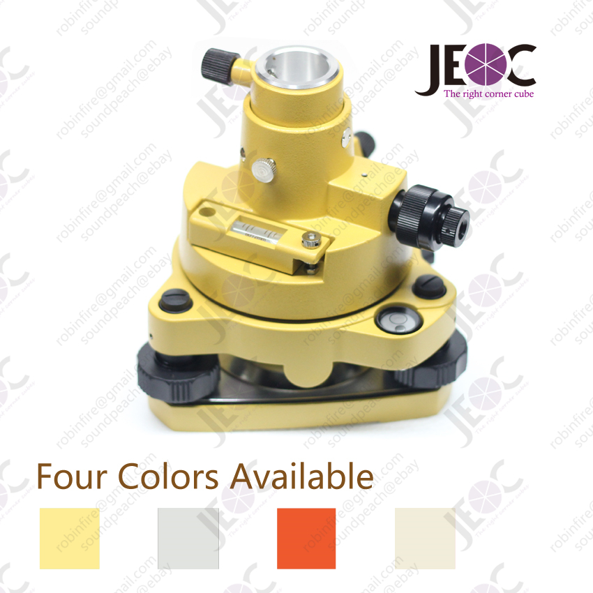 Topcon Style Tribrach Adapter with optical plummet yellow red grey camel