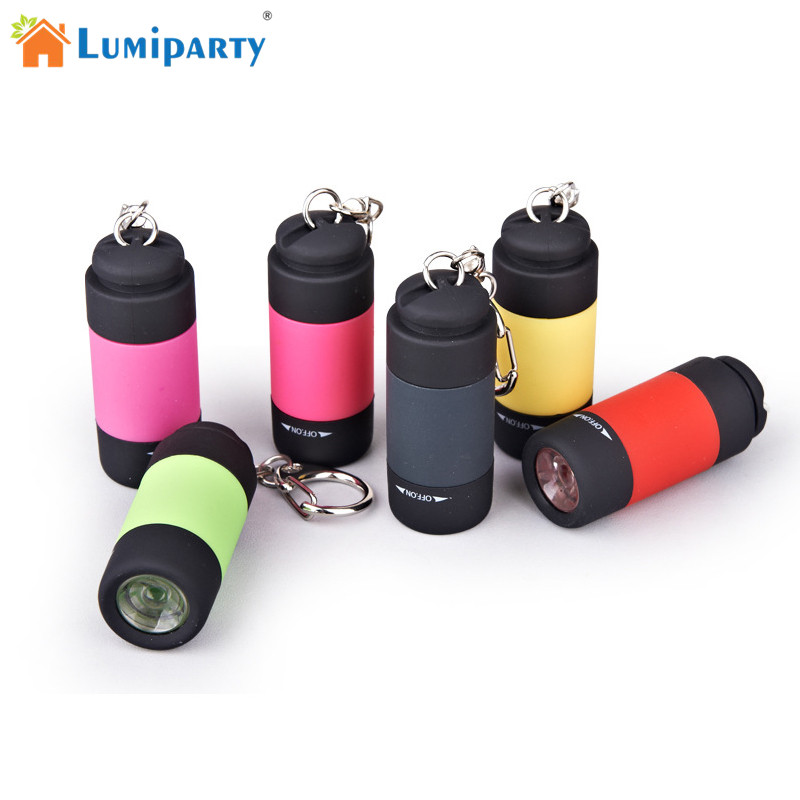 LumiParty Portable Mini Keychain USB Rechargeable Pocket Torch Flashlight Light Lamp IP67 Waterproof Multicolor Flashlight ручной фонарик mini torch mini torch galaxy usb