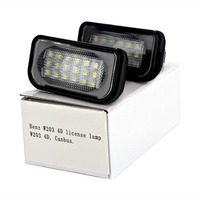 HengChiLun 2PCS LED License Plate Light Number Plate Light For Mercedes Benz W203 4D W219 W213