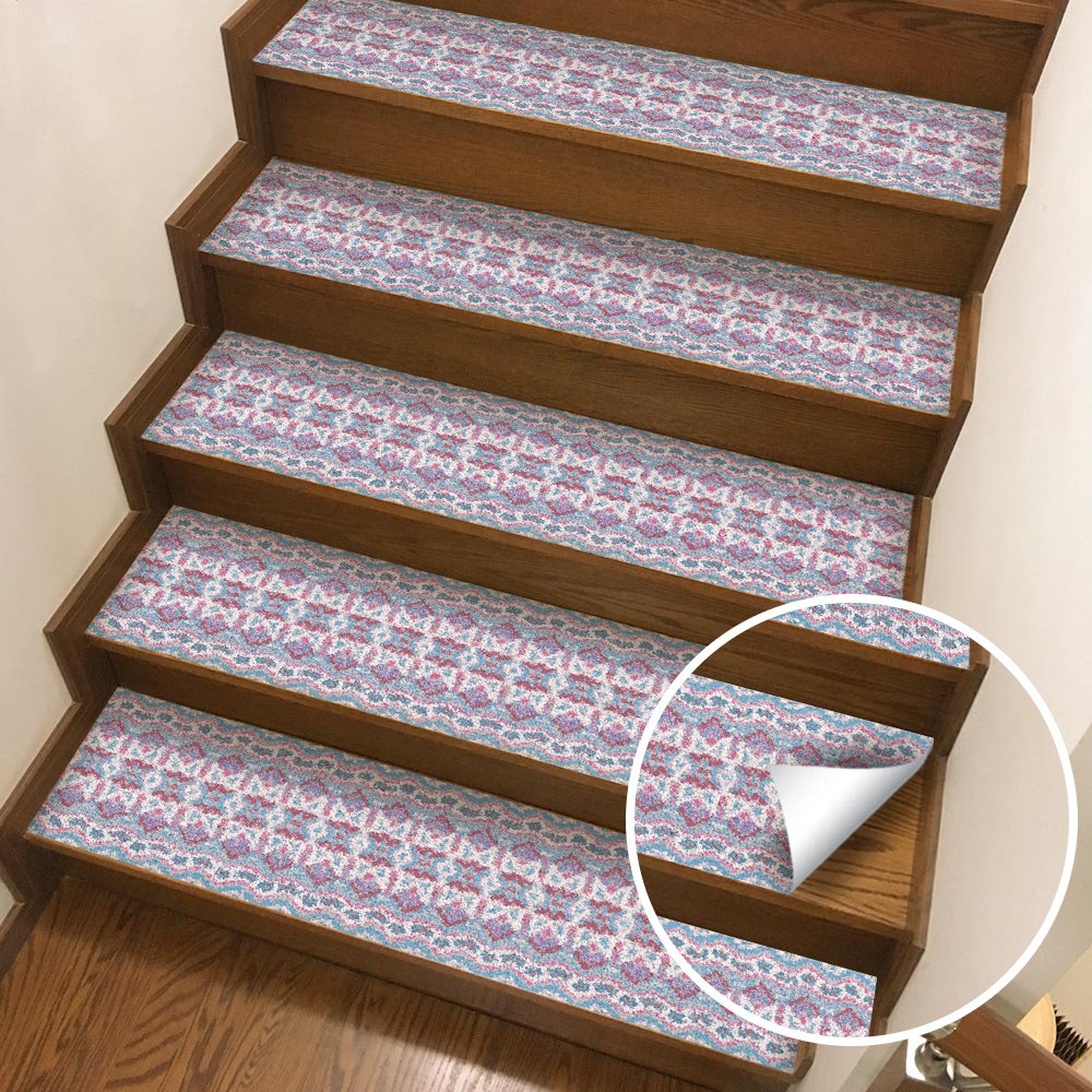 Image 2 - Hot 2Pcs Bohemia Style Stair Stickers,  Wall Stickers Diy Floor Sticker,   Suitable For The Toilet, Kitchen, Stair Etc. En-in Wall Stickers from Home & Garden