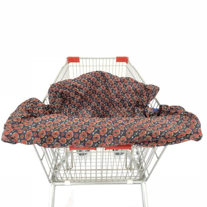 Младенческий супермаркет корзина для покупок, чехол для детского сиденья, анти-грязный чехол, детское сиденье для путешествий, подушка, не грязный, портативный - Цвет: kaleidoscope