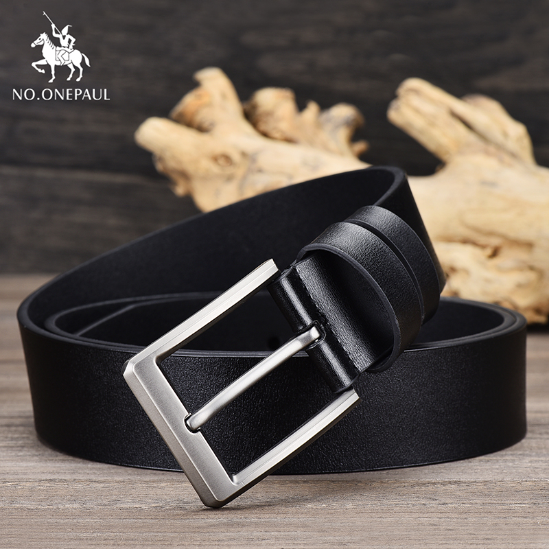 NO.ONEPAUL Men's Simple Retro Business Brand Leather New Belt With Jeans Designer Design High Quality Young And Middle-aged Belt