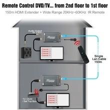 HSV891 IR HDMI Extender ผ่าน TCP IP IR และ 3.5 มม. เสียงแจ็คเครื่องส่งสัญญาณและตัวรับสัญญาณ HDMI 1080 P ผ่าน UTP/STP Rj45