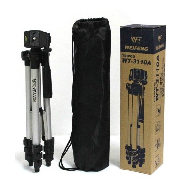 WT-3110A trípode de cámara ligero portátil y cabeza de bola + bolsa de transporte para Canon Nikon Sony DSLR cámara DV