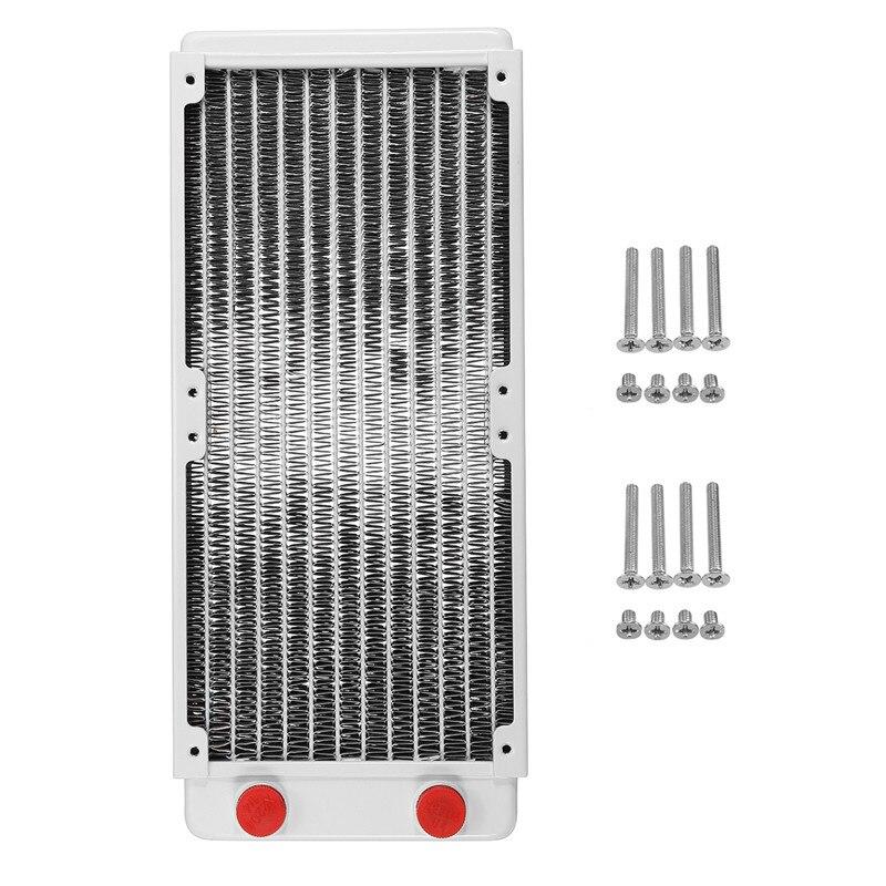 240mm refroidisseur d'eau radiateur radiateur cuivre refroidi à l'eau radiateur d'échappement échangeur de chaleur refroidisseur d'eau pour ordinateur CPU