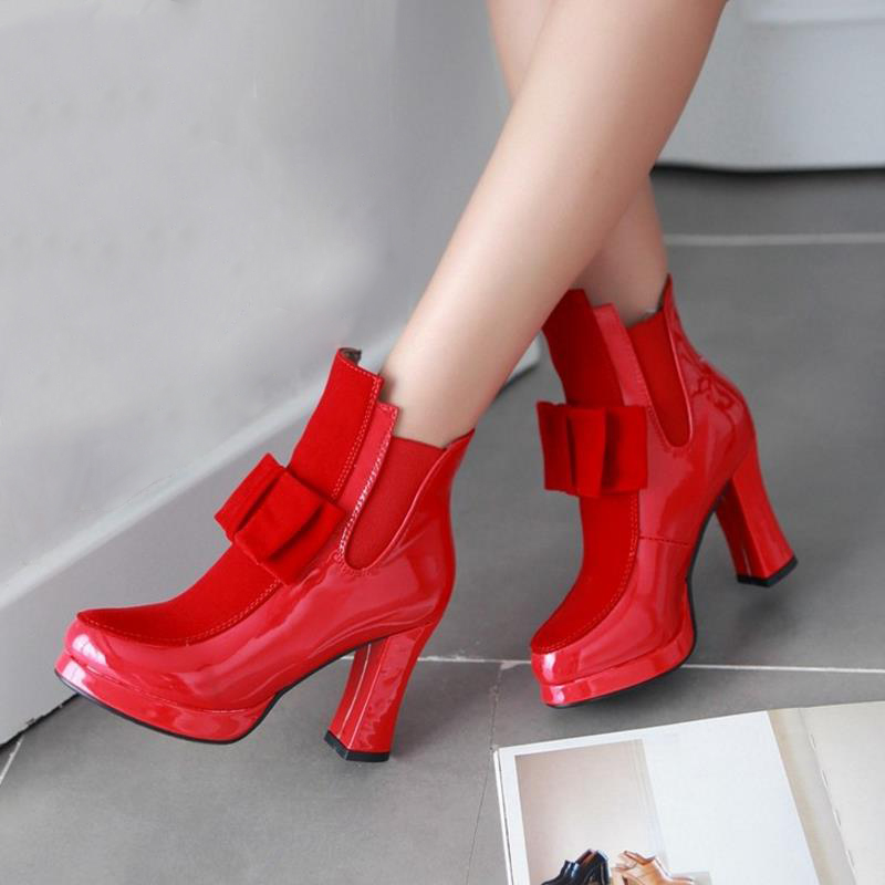 d08d49a8a85 Shoes-2018 New Fashion 100% Leather Red Bottom Sole Women's High ...