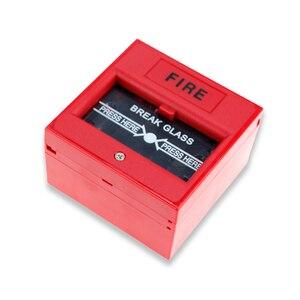Image 5 - Quebre o vidro da porta de emergência interruptor de botão de saída liberação urgente botão firme interruptor de alarme para o Sistema de Segurança de Bloqueio vermelho/verde