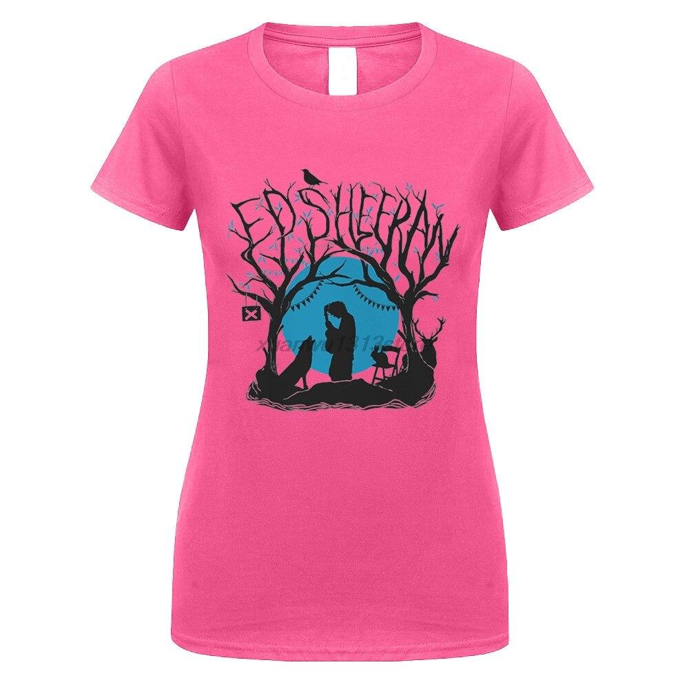 GILDAN Ed Sheeran Woodland Concerto T-Shirt - NUOVO E ORIGINALE women Print Cotton O Neck Shirts Top Tee Tops T Shirt Homme