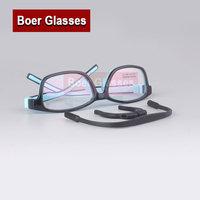 New Silica Gel No Screws Eyeglasses Frame RX Eyewear Children Comfortable Safe Full Rim Glasses Prescription