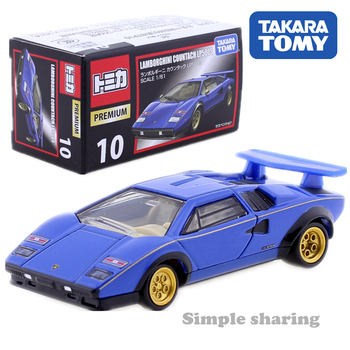 Tomica Premium No. 10 Lamborghini Countach LP500S Scale 1:61 TAKARA Tomy AUTO CAR Motors Vehicle Diecast Metal Model New Toys image