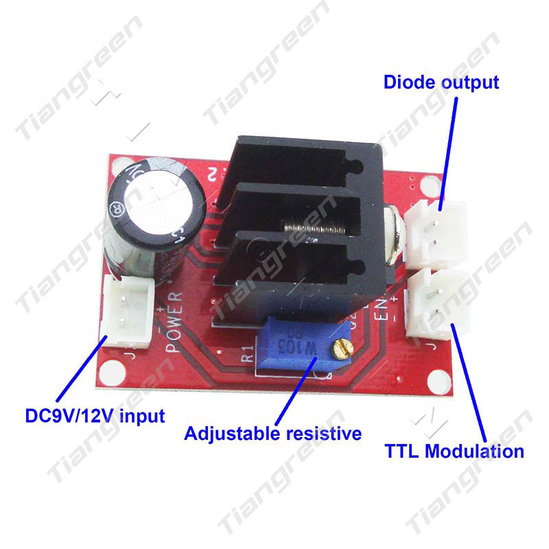 Laser Diode Module Driver for 100mW 200mW 500mW 1W 2W 445nm 450nm Blue Laser DC9V/12V Input with TTL high quality 500mw 808nm 810nm ir laser module focusable infrared module with ttl driver board dc 12v input