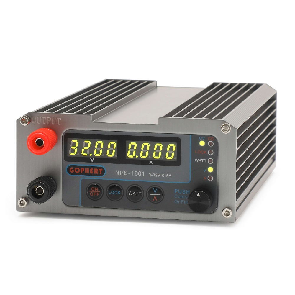 NPS 1601 0 32V 0 5A adjustable DC regulated power supply constant voltage current source
