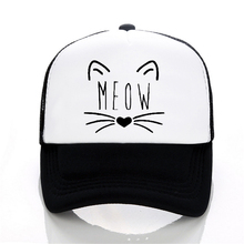MEOW Cartoon Baseball Caps Summer Leisure Adjustable Hats Mesh trucker hat Fashion men women cap