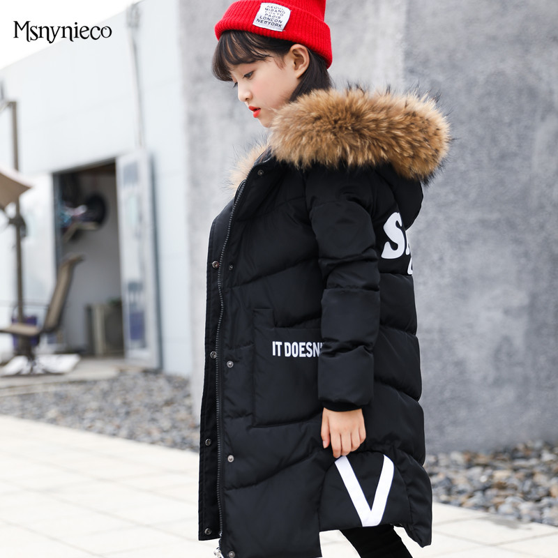 Girl Kids Winter Jacket Fashion White Duck Down Thick Hooded Children Parkas Coats Teenage Girls Clothing for 4 6 8 10 12Years fashion girl winter down jackets coats warm baby girl 100% thick duck down kids jacket children outerwears for cold winter b332