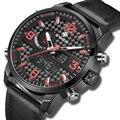 WWOOR Топ люксовый бренд мужские спортивные часы мужские кварцевые светодиодные цифровые часы мужские военные водонепроницаемые кожаные час...