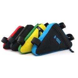 4 цвета, водонепроницаемые треугольные велосипедные сумки для велоспорта, сумка на переднюю трубу, сумка на раму для горного велосипеда, тре...