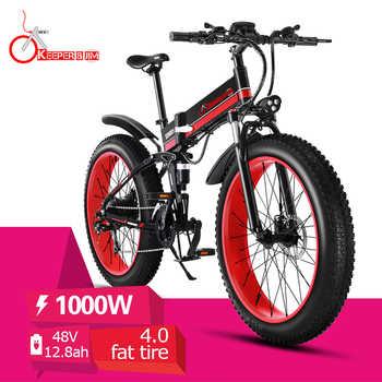 26 pouces vélo électrique ebike 48V1000W gros pneu vélo montagne neige ebike pliant vélo électrique VTT électrique e-bike