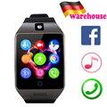Q18 relógio de pulso inteligente bluetooth q18s câmera inteligente pulso tf slot para cartão sim para ios android smartphone huawei samsung xiaomi