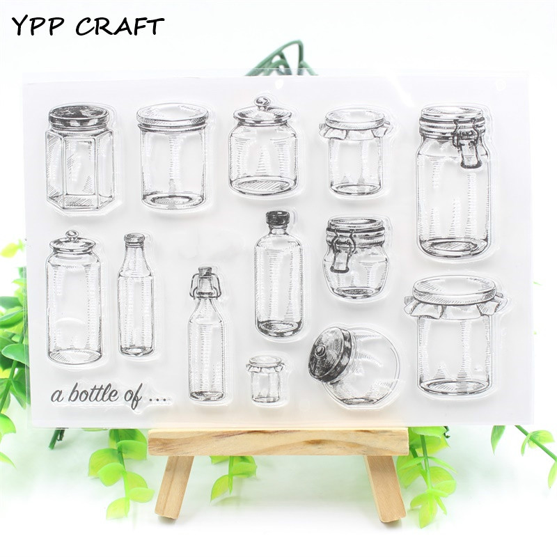 YPP CRAFT Bottles Transparent Clear Silicone Stamp/Seal for DIY scrapbooking/photo album Decorative clear stamp about lovely baby design transparent clear silicone stamp seal for diy scrapbooking photo album clear stamp paper craft cl 052