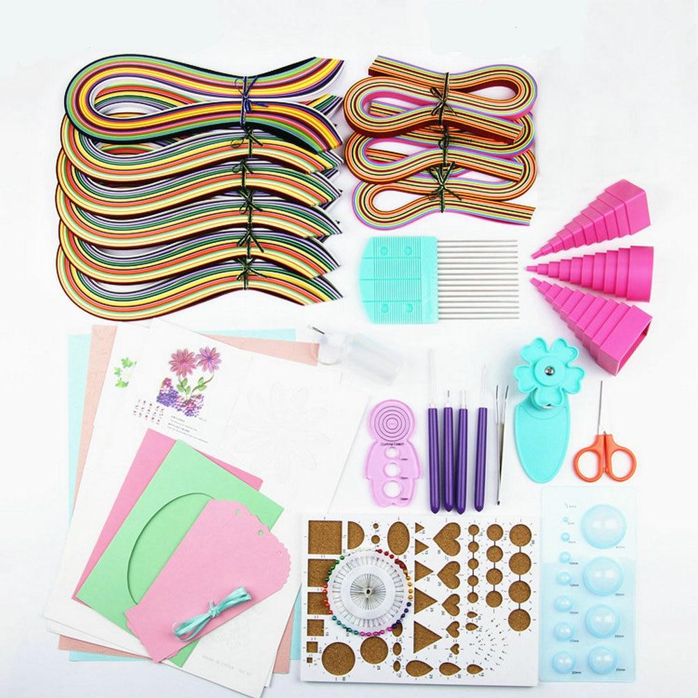 Papier à Dessin Papier Quilling Set En Papier Matériel Emballage Couleur Matériel Paquet Débutants Outil D'apprentissage