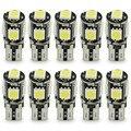 100 unids coche fuente de luz 194 168 T10 canbus LED 5smd 5050 5 smd T10 W5W led canbus lámpara T10 canbus 5050 error gratuito white bombilla