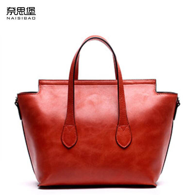 NAISIBAO2018 New luxury fashion 100% high quality handbag leather cowhide shoulder Messenger bag retro embossed women's bag naisibao2018 new luxury fashion 100% high quality leather handbag shell bag messenger bag leather embossed wind coat