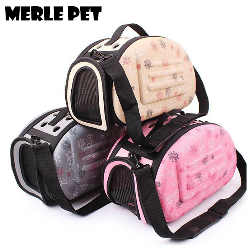 MERLE PET Fashion EVA Soft-Sided Carriers Dog Carrier Handbags Cat Puppy Travel Bag Outdoor Transport Foldable Airline E07003